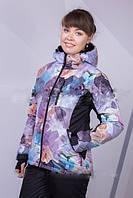 Куртка термо женская, непромокаемая. Цветочный принт