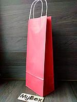 Крафт пакет с витыми ручками 400/150/90мм красный