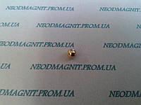 Магнитный шар цвет золото