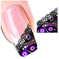 Наклейки-френч для дизайна ногтей