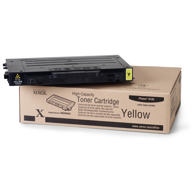 Тонер картридж Xerox PH6100 Yellow (Max)