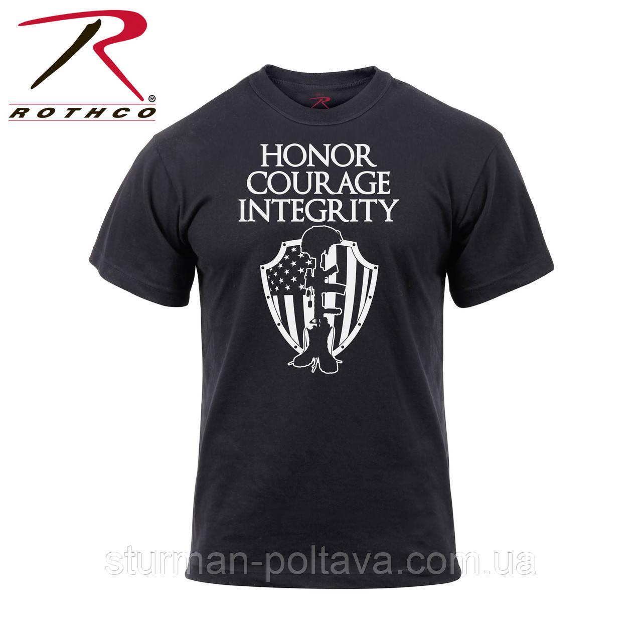 Футболка мужсккя патриотическая  мужество и честь  Rothco   Honor Courage Integrity Athletic    США