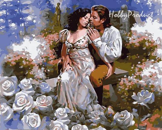 Набор-раскраска по номерам Любовь среди роз худ. Гинзбург Марк, фото 2