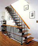 Лестница. Лестница на одном центральном косоуре (монокосоуре), фото 7