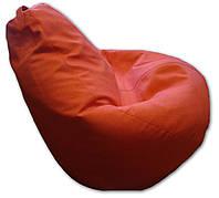 Коралловое кресло-мешок груша 120*90 см из микророгожки, фото 1