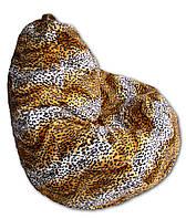 Леопардовое кресло-мешок груша 120*90 см из искусственного меха, фото 1