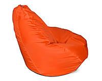 Оранжевое мега большое кресло-мешок груша 140*100 см из ткани Оксфорд