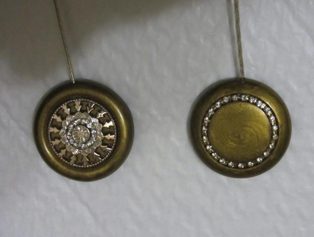 Магнит-подхват для штор ручной работы Б1 и Б2 антик