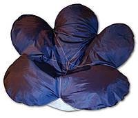 Бескаркасное кресло мешок Цветочек сине-белое из ткани Оксфорд