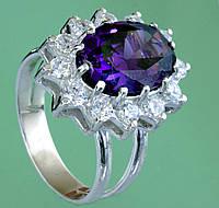 Срібний перстень ювелірним склом