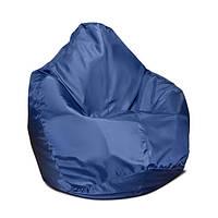 Детское кресло мешок груша синее 100*75 см из ткани Оксфорд