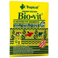 Tropical Bio-vit 12 гр (хлопья) растит. корм для всех видов рыб