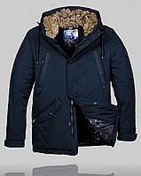 Мужская зимняя куртка Malidinu 4505 Тёмно-синяя