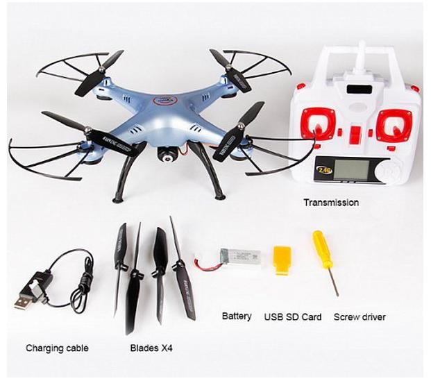 Квадрокоптер Syma X5HC с камерой 2 Mп и картой памяти на 4 Гб
