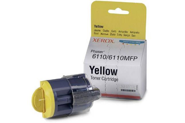 Тонер картридж Xerox PH6110 Yellow, фото 2