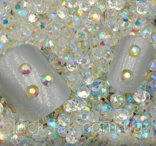 Стразы для ногтей 3 мм, 100 шт, прозрачный хамелеон, фото 1