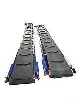 Ленточный конвейер (транспортер) с шевронной лентой.