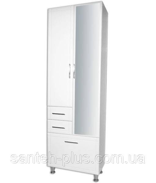 Пенал для ванной комнаты большой 60 см П6/4