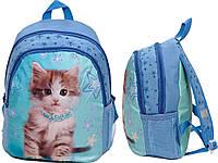 Рюкзак школьный маленький Paso с котом модель 597