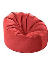 Красный большое кресло мешок из кож зама Зевс