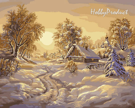 Набор-раскраска по номерам Зимние сумерки худ. Цыганов Виктор, фото 2