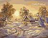 Набор-раскраска по номерам Зимние сумерки худ. Цыганов Виктор