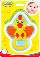Погремушка-прорезыватель 'Цыпленок' блистер 18,5*21,5*2см. //(57105)