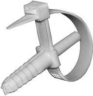 Хомут с дюбелем E.NEXT - хомут 140х10мм; дюбель 10х40мм; диаметр трубы 10-40мм; 50шт