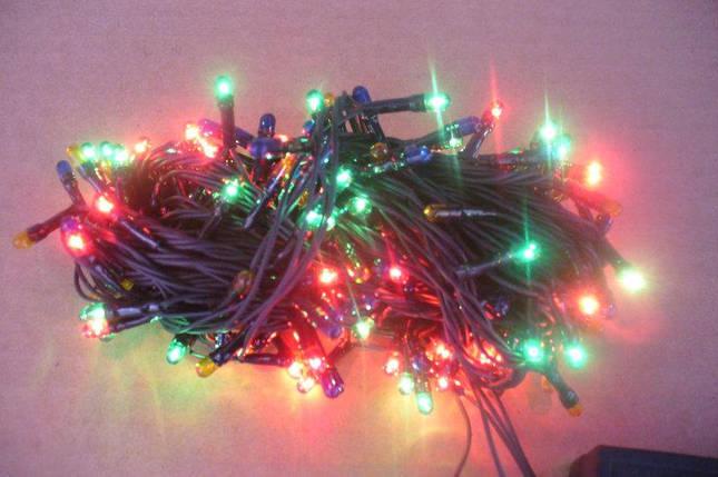 Новогодняя гирлянда на 100 лампочек разноцветная, фото 2