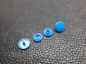 Кнопка пластиковая Т-3 d10,4 мм цвет голубой