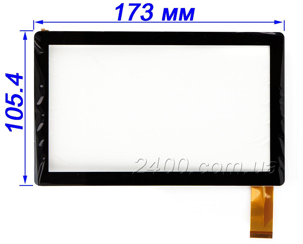 Тачскрин, сенсор для планшета Allwinner A13, Q8, Q88 черный