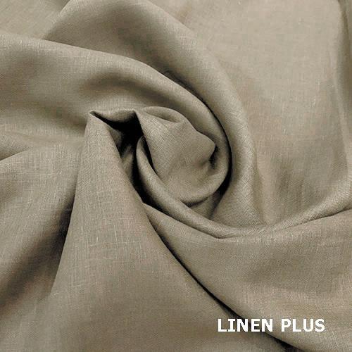 Кавова лляна тканина, колір 394