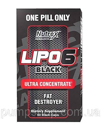 Жиросжигатель Nutrex Lipo-6 Black Ultra Concentrate International 60 порц.