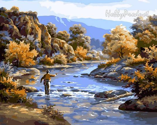 Набор-раскраска по номерам Осенняя рыбалка худ. Сунг Ким, фото 2