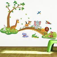 Детская наклейка на стену , для детского сада , в детскую комнату 027615