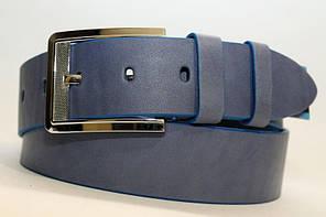 Стильний джинсовий  ремінь з натуральної шкіри  45мм, гладкий,темно-синій
