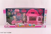 Мебель Кафе 8144-3 24шт2 светмуз,с 2-мя куколками, домик,машина,продукты, в кор.512410см