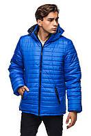 Мужская зимняя куртка с капюшоном.  электрик