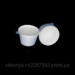 Емність зі спіненого полістеролу супова ПК350 ПС d=11,5см 2уп*25шт+кришка