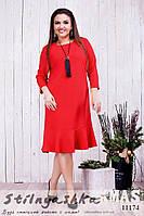 Стильное платье для полных Подарок красное, фото 1
