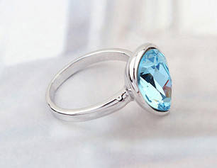 Кольцо с кристаллами Сваровски rs-47  , фото 2