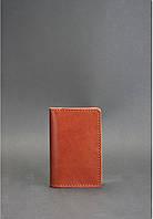 Кожаный кард-кейс 6.0 Коньяк. Ручная работа, фото 1