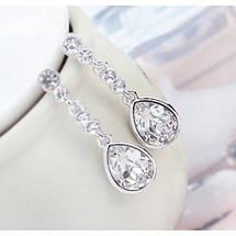 Серьги с кристаллами Сваровски es30, фото 3