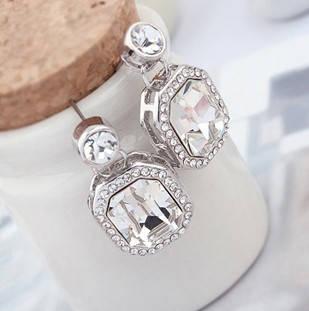 Серьги с кристаллами Сваровски es67, фото 2