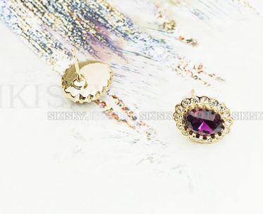 Серьги с кристаллами Сваровски es77, фото 2