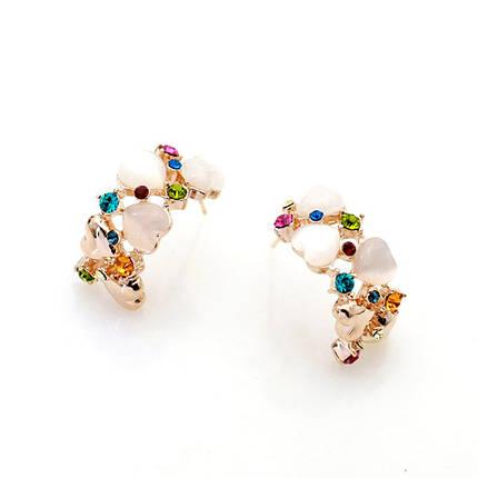 Серьги с кристаллами Сваровски es210, фото 2