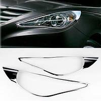 Накладки на фары Hyundai Sonata 2010+ (2 шт)