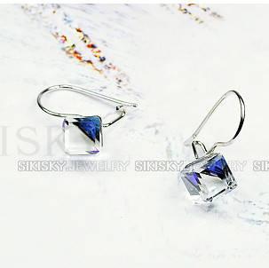 Серьги с кристаллами Swarovski ХАМЕЛЕОН es270, фото 2