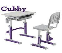 Cubby растущая детская парта со стульчиком (Lupin Violet)