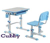 Cubby растущая детская парта со стульчиком (Lupin Blue)